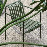 HAY Dining Stuhl PALISSADE Olive mit Armlehne