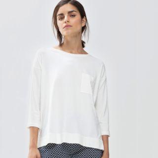 Night2Day Shirt 3/4 Ärmel, Serie Demi, secco (weiß)