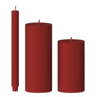 Kerze gegossen (zinnober)