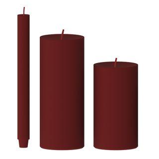 Kerze gegossen (burgunder)