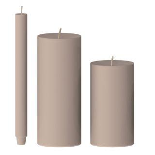 Kerze gegossen (hortensie)