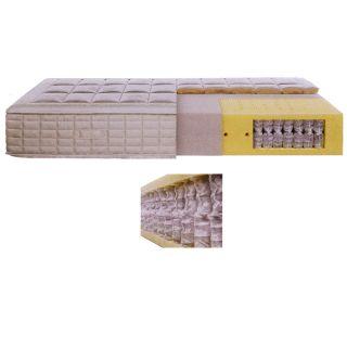 ETERA UNO Komfort-Taschenfederkern RW065 Drell/Wolle mit Borderverarbeitung