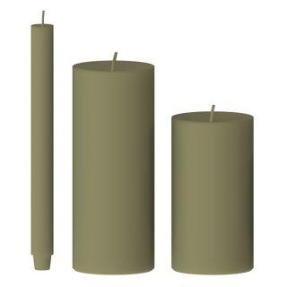 Kerze gegossen (birke)