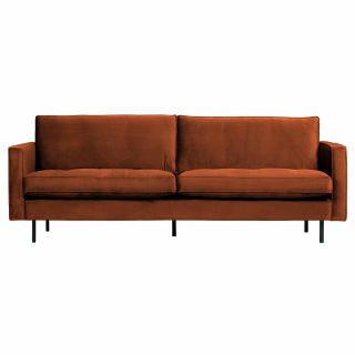 RODEO Classic Sofa 2,5-Sitzer VELVET rost