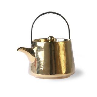 bold & basic ceramics: Teekanne (gold)