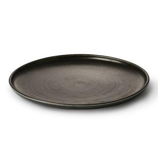 kyoto keramik: Teller RUSTICAL schwarz