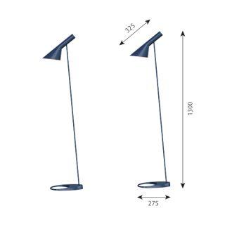AJ Stehleuchte mitternachtsblau - Design by Arne Jacobsen