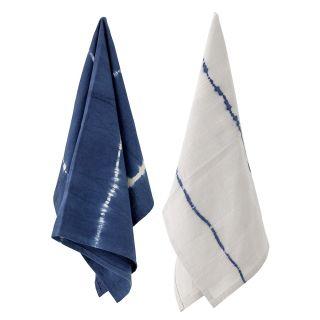 Küchenhandtuch, Baumwolle (blau)