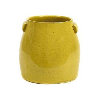 Blumentopf gelb Größe L 1