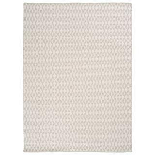 handgewebter Wollteppich ELLIOT white