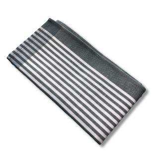 Küchentuch Halbleinen STREIFEN schmal (grau)