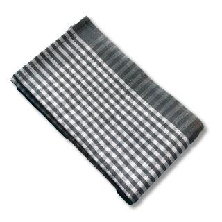 Küchentuch Halbleinen KARO klein (grau)
