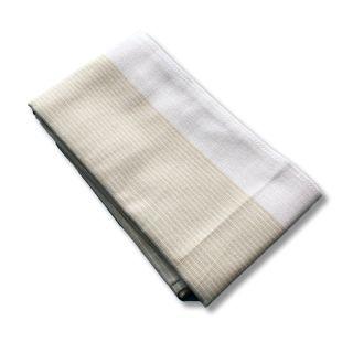 Küchentuch Halbleinen Nadelstreifen (beige)
