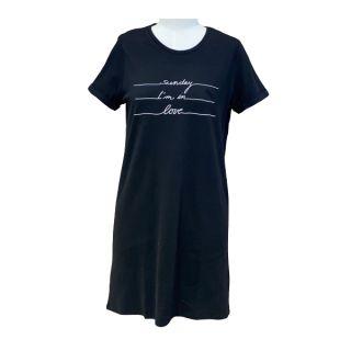 "Nacht-Shirt ""Sunday in Love"" black"