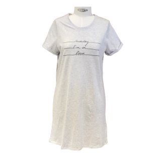 """Nacht-Shirt """"Sunday in Love"""" grey"""
