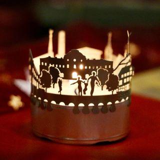 Teelichtsilhouette aus der 13gramm Geschenkbox