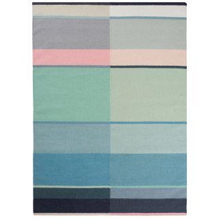handgewebter Wollteppich LEUS pastel