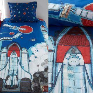 Kids Rocket Ship Blue