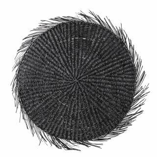 Rundes Tischset Seegras (schwarz)