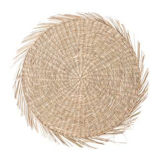 Rundes Tischset Seegras (natur)